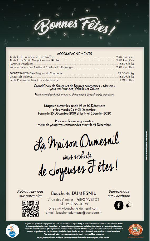 Menu Boucherie Dumesnil page 4
